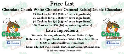 in color cookies in color price list home the cookie caterer