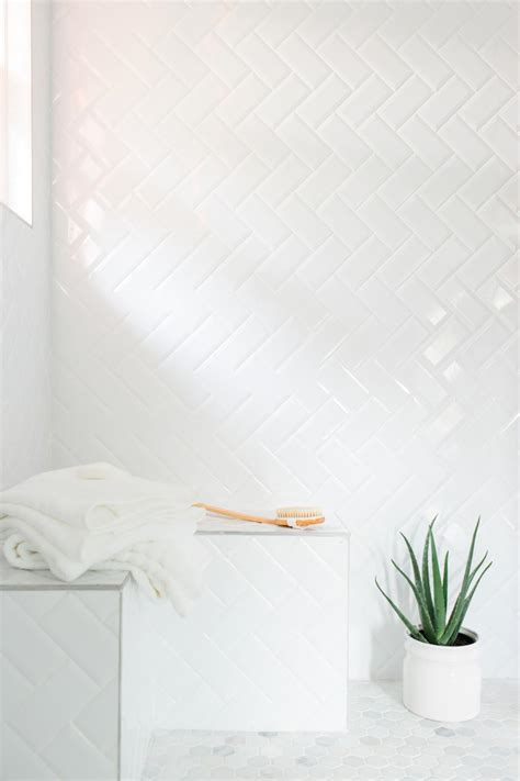 herringbone pattern white subway tiles the hgtv dream home 2016 master bath is a masterpiece