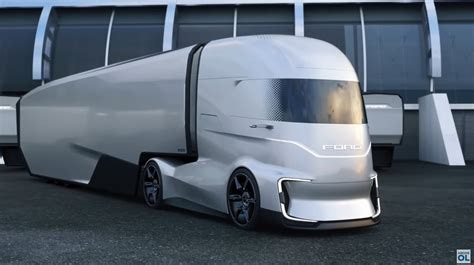 ford electric truck ford unveils f vision electric semi truck