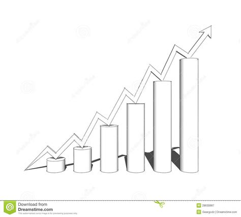 graph sketch sketch of 3d bar graph royalty free stock photography
