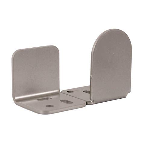 sliding closet door guides floor glide 1 3 8 in x 2 1 4 in dome satin nickel center floor guide qg1301dg02 the home depot