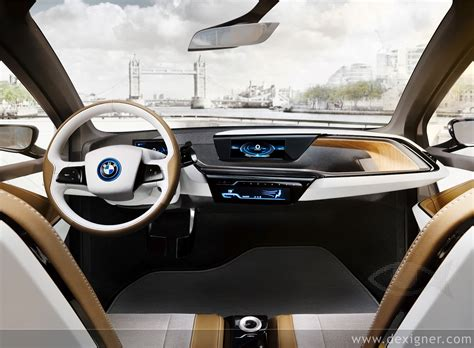 bmw inside the electric bmw i3 first i3 interior spy shot captured