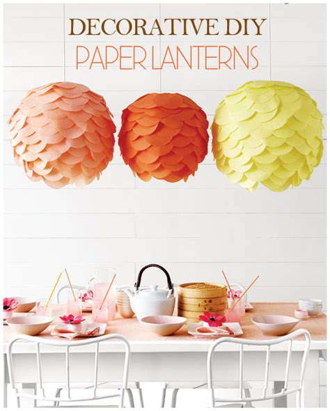 How To Make Tissue Paper Lanterns - diy decorative paper lantern tutorial pizzazzerie