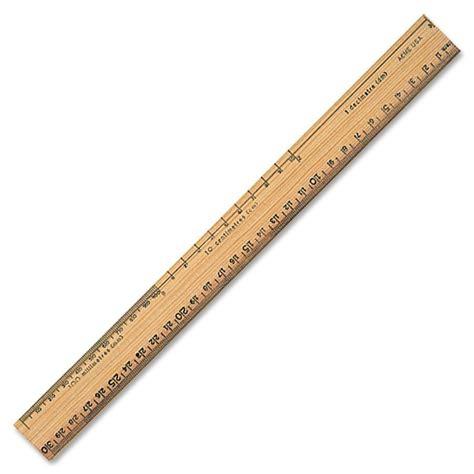 Acme United School Ruler Wood by Buy Acme United Plain Edge Bevel School Ruler