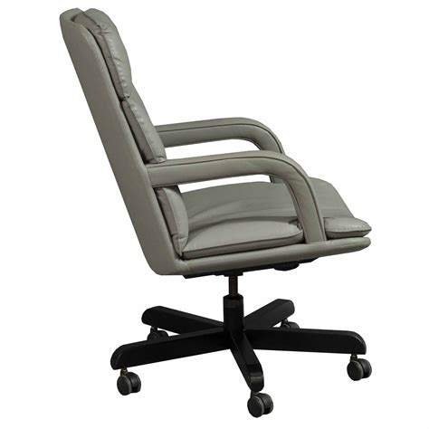used leather conference chair taupe national office
