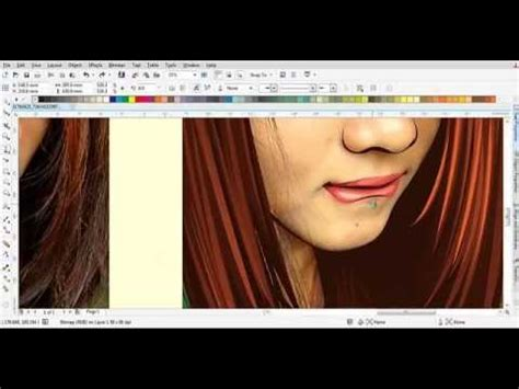 tutorial vector corel draw youtube tutorial vector corel draw x7 menggambar gadis manis