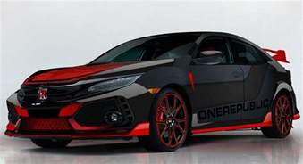 honda shows a custom civic type r designed by onerepublic