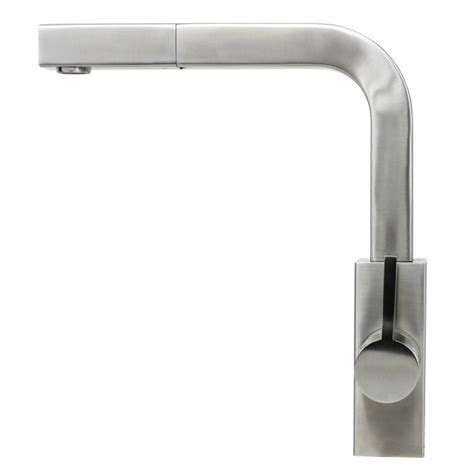 single handle kitchen faucet kf 500 strictly sinks ariel carmela stainless steel lead free single handle pull