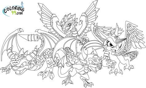 skylanders dragon coloring page gallery