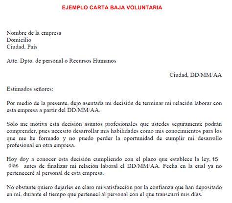 formato de renuncia voluntaria 2015 mxico el blog de los parados baja voluntaria de la empresa