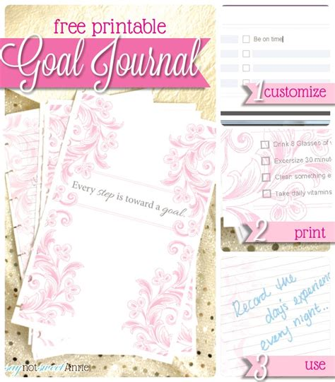 printable goal journal printable goal journal somewhat simple