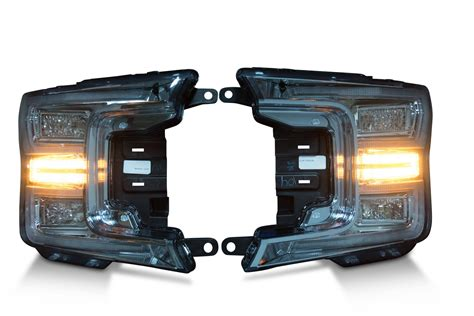 led lights headlights pair 2018 ford f150 oem led headlights the hid factory