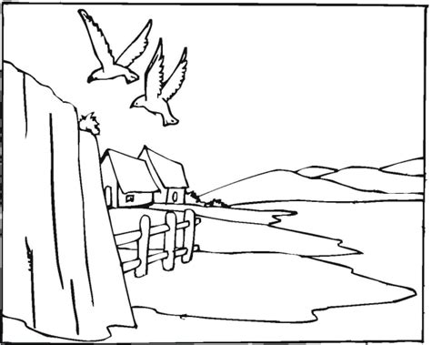 coloring pages of landscapes free coloring pages of beach landscape