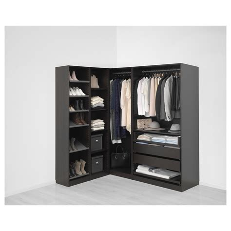 Corner Pax Wardrobe by Pax Corner Wardrobe Black Brown Nexus Vikedal 160 188x201