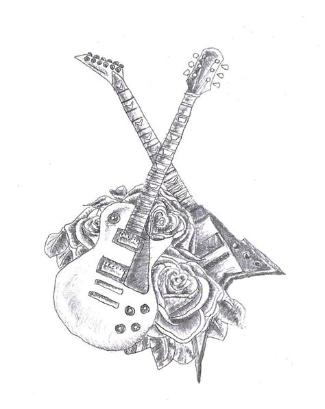 electric guitar tattoo designs 1000 images about guitar on led zeppelin