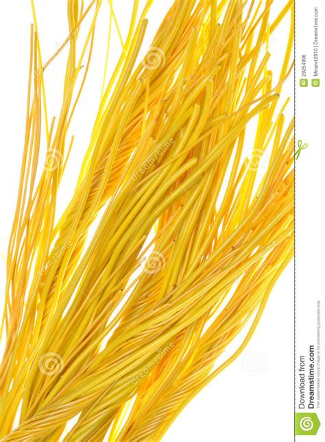 yellow bundle of wires royalty free stock image image