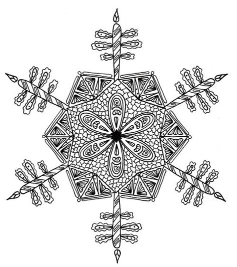 advanced snowflake coloring pages intricate snowflake adult coloring page favecrafts com