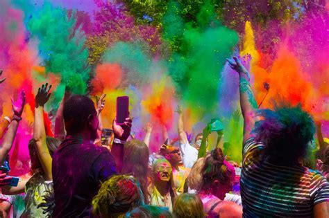 utah color festival utah holi revelers embrace hindu legend signpost