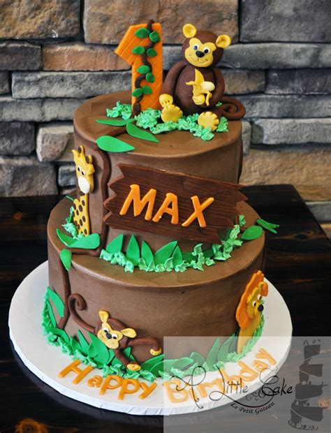 jungle themed birthday cake kids cakes a little cake