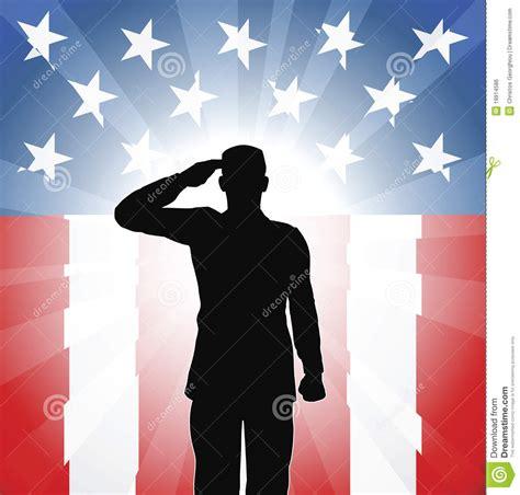 patriotic soldiers patriotic soldier salute stock vector image of july
