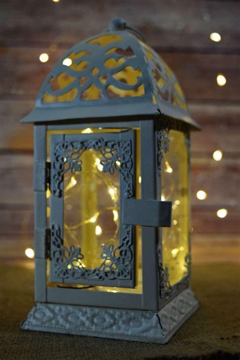 "8"" Beige / Ivory Classical Square Hurricane Candle Lantern"