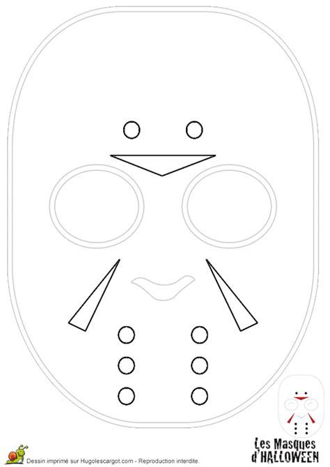 Coloriage masque de hockey halloween sur Hugolescargot.com