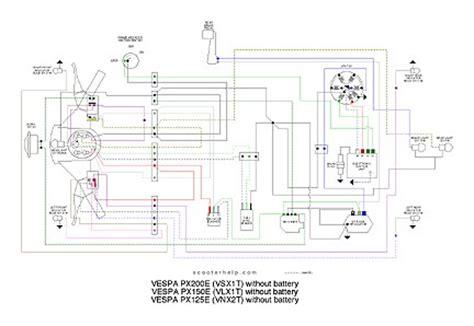 vespa px esquemas el 233 cticos p200e