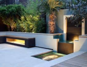 Contemporary Landscape Lighting Creating Unique Garden Designs With Water Features Plantopave