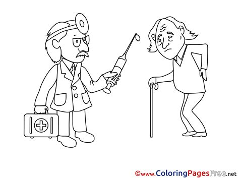 old man doctor free printable coloring sheets