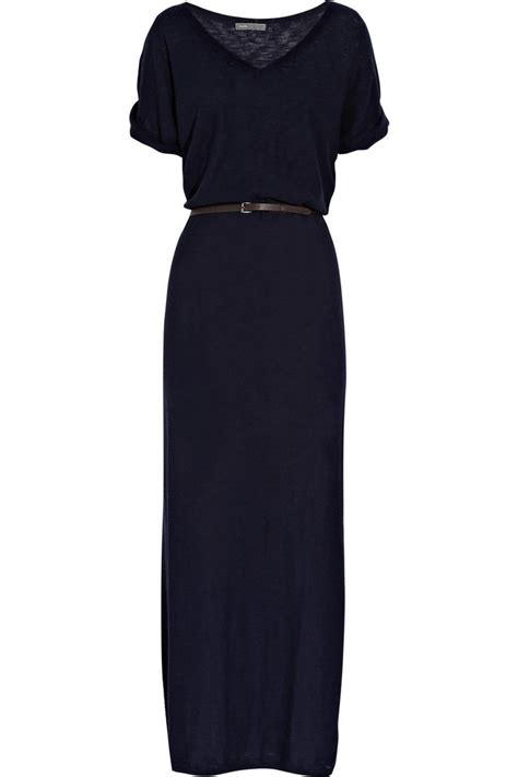 belted cotton maxi dress