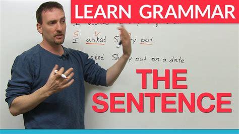 len 4 you learn grammar the sentence