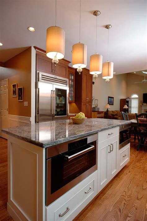 transitional kitchen with maple kitchen island morris transitional cherry kitchen center valley pa morris