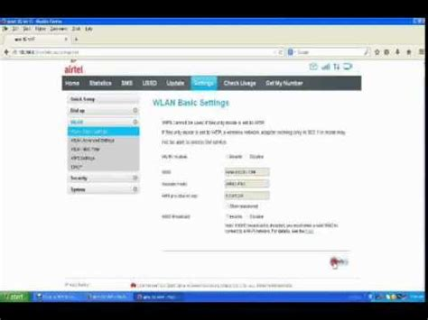 resetting wifi card how to change password for airtel wi fi data card youtube