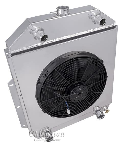 electric radiator fans and shrouds 42 52 ford truck 4252fh fd ch all aluminum fan shroud