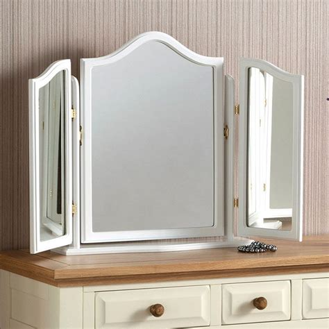white dressing table mirror white fold dressing table mirror 76 x 58 cm
