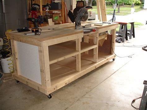 Wood Garage Workbench Plans