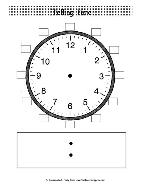 clock templates for telling time telling time worksheets from the s guide
