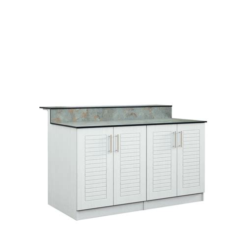 Outdoor Bar Cabinet Doors Weatherstrong Key West 59 5 In Outdoor Bar Cabinets With Countertop 4 Height Doors In