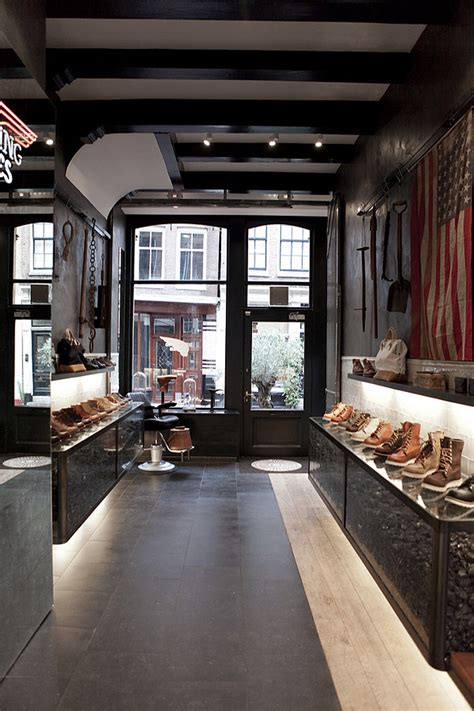 wings boots store wing shoes store amsterdam 187 retail design
