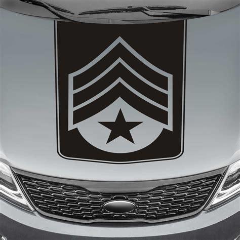 truck decals sergeant badge blackout truck decal sticker jeepazoid