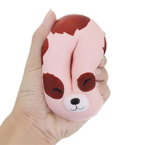 Soft And Slowrise Squishy Hotdog yunxin squishy puppy donut 10cm scented soft rising with packaging collection gift