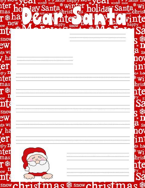 christmas ruled writing paper   letter  santa