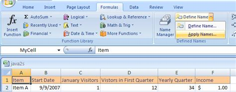 Excel Lookup Cell Address Apply A Name To A Cell Or Range Address Cells Name