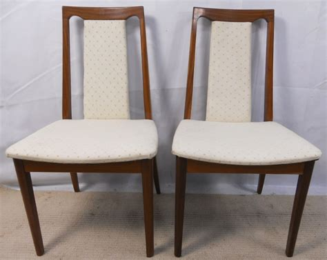 G Plan Teak Dining Chairs by Pair Teak Upholstered Dining Chairs By G Plan