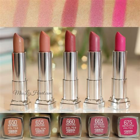 Gincu Maybelline the from the new maybelline color sensational matte lipstick swatches makeup