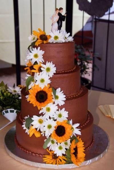 Wedding Cake Jb by Chocolate Wedding Cake With Sunflowers Mjb Cakes