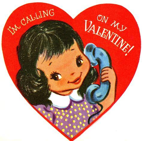 retro telephone girl valentine image darling  graphics fairy