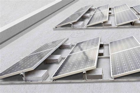 living roof solar system ecofoot 2 the new generation flat roof mounting system