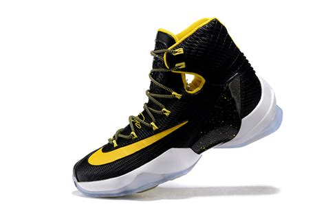 lebron high top sneakers lebron 13 black yellow high top shoes