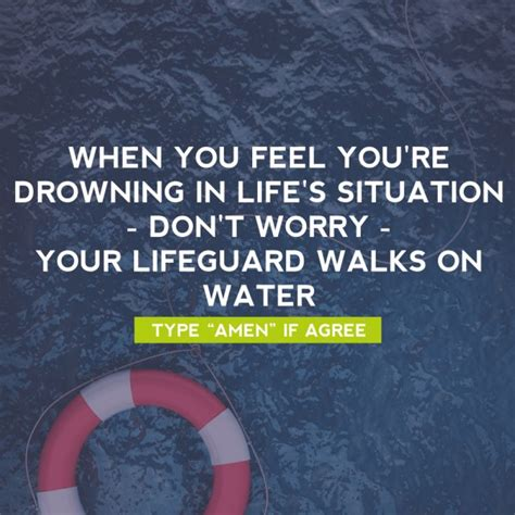 my god walks on water christian life quotes